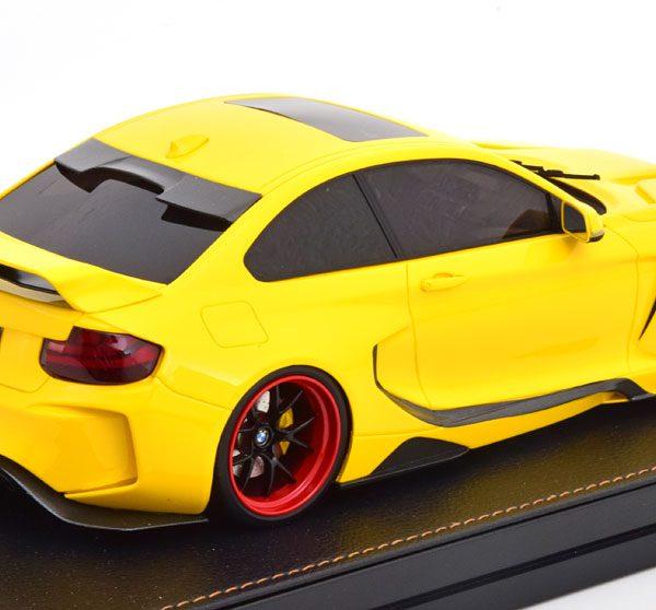 "BMW M235i Darwin Pro MTC ""Black Sails Widebody"" 2018 Geel 1-18 GLM Models ( Resin )"
