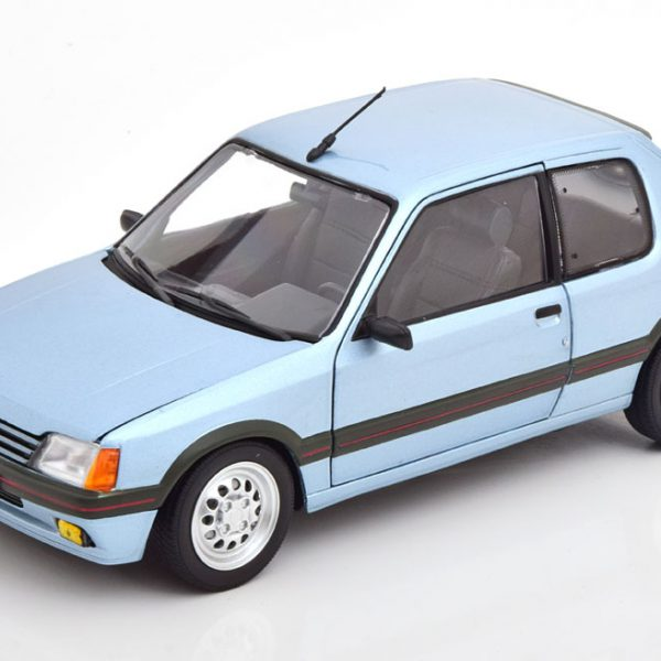 Peugeot 205 GTI 1.6 1988 Blauw Metallic 1-18 Norev