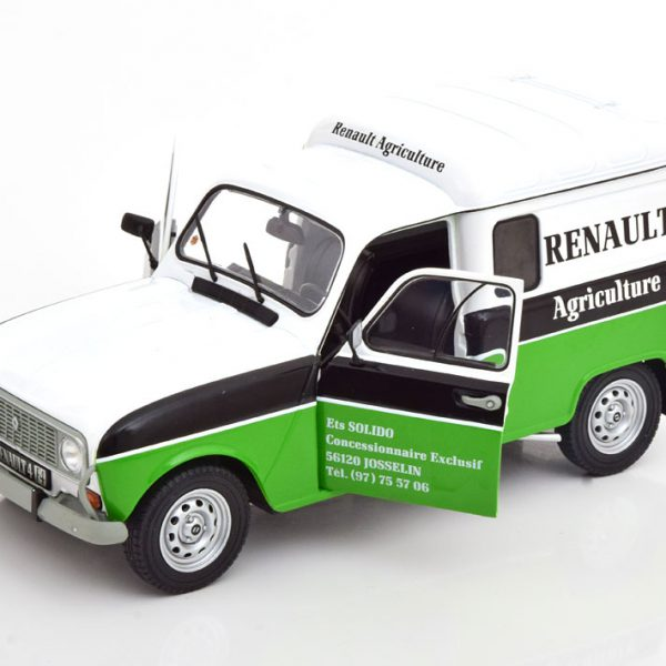 Renault 4 F4 Renault Agriculture 1988 Wit/Groen 1-18 Solido