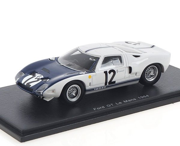 "Ford GT40 #12 24 Hrs Le Mans 1964 ""Schlesser - Attwood"" Wit 1-43 Spark"
