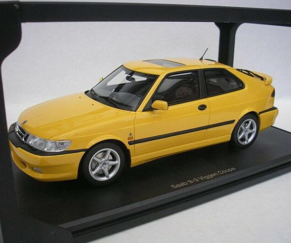Saab 9-3 Viggen Coupe 2000 Geel 1:18 DNA Collectibles Limited Edition 320 Pieces