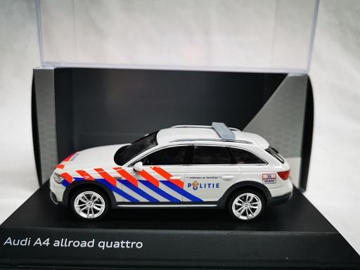 Audi A4 Allroad Quattro Nederlandse Politie Ombouw ( Old Striping ) 1-43 Spark