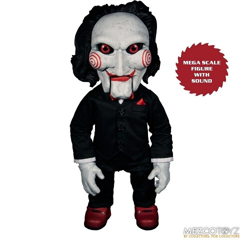 """Saw Billy Mega-Scale with Sound """"15 Inch"""" Doll Mezco Toys"""