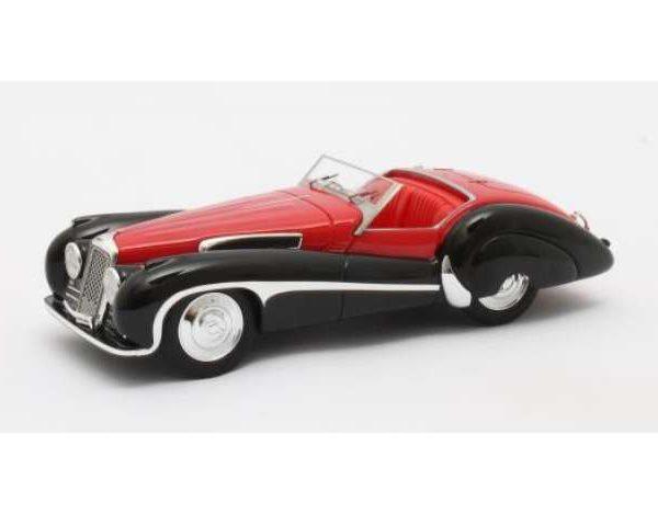 Jaguar SS100 2,5-Litre Roadster Vanden Plas 1939 Zwart/Rood 1-43 Matrix Scale Models Limited 408 pcs.