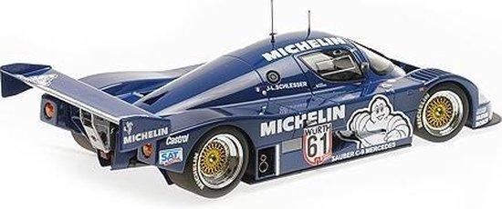 Mercedes-Benz Sauber C9 #61 Jean-Louis Schlesser Winner ADAC Supersprint 1987 Blauw 1-18 Minichamps Limited 504 pcs.