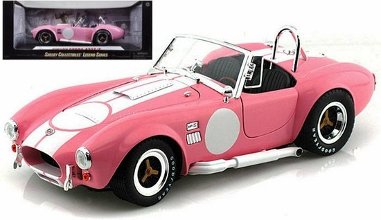 Shelby Cobra 427 S/C Spider 1962 Roze / Wit 1-18 Shelby Collectibles