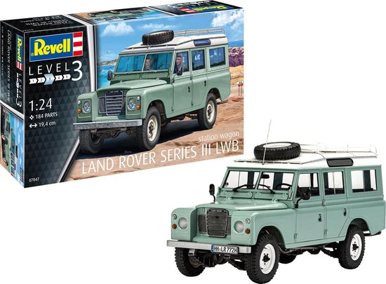 Land Rover Series III LWB Station Wagon 1-24 Bouwdoos Revell Niveau 3