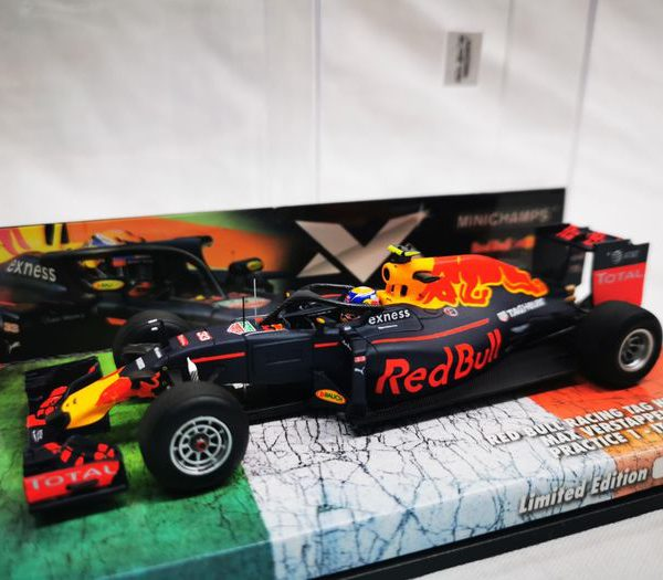 Red Bull Racing Tag Heuer RB12 Max Verstappen Halo Test Practice 1 Italian GP 2016 1-43 Minichamps Limited 1000 pcs.