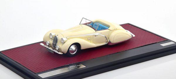 Talbot-Lago T150C Cabriolet Figoni & Falaschi #90111 1936 Wit 1-43 Matrix Scale Models Limited 408 pcs.