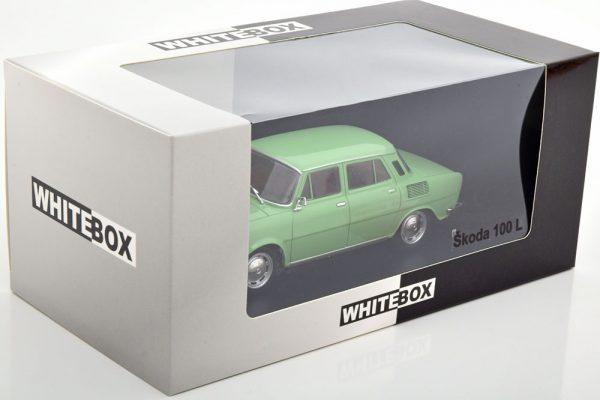 Skoda 100L Groen 1-24 Whitebox