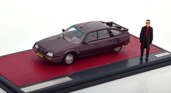 Citroen CX GTI Turbo II + figuur Jules D. Rotterdam edition 1986 - 1989 1-43 Cassis Metallic Matrix Scale Models Limited 408 pcs.