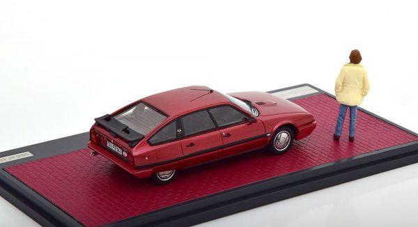 Citroen CX GTI Turbo II + figuur Horst S. Duisburg edition 1986 - 1989 Rood Metallic 1-43 Matrix Scale Models Limited 408 pcs.