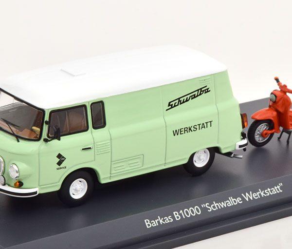 """Barkas B1000 """"Schwalbe Werkstatt"""" 1-43 Schuco Limited 750 Pieces"""