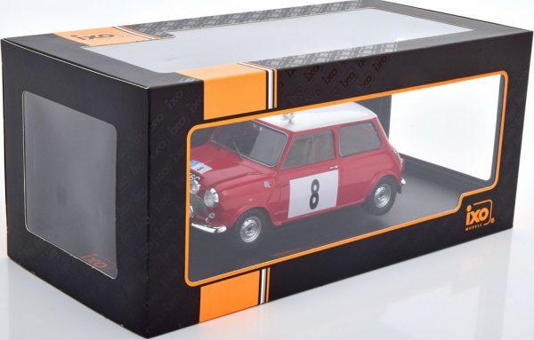 Mini Cooper S No.8, RAC Rally 1965 Hopkirk/Liddon Rood 1-18 Ixo Models