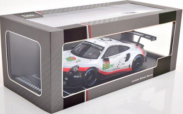 Porsche 911 (991) RSR No.93, 24Hrs Le Mans 2018 Pilet/Tandy/Bamber 1-18 Ixo Models