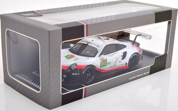 Porsche 911 (991) RSR No.94, 24Hrs Le Mans 2018 Dumas/Bernhard/Müller 1-18 Ixo Models