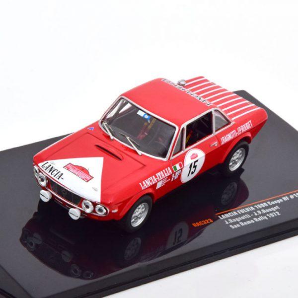 Lancia Fulvia 1600 Coupe HF No.15, Rally San Remo 1972 Ragnotti/Rouget 1-43 Ixo Models