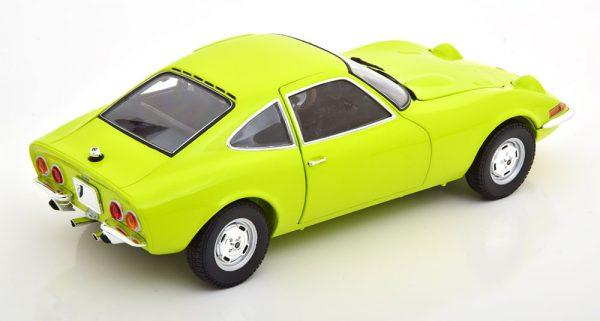 Opel GT 1970 Geelgroen 1-18 Minichamps ( Metaal )