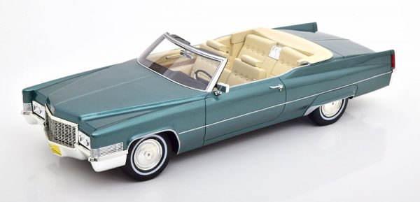 Cadillac DeVille Convertible 1970 Adriatic Turquoise 1-18 Cult Scale Models