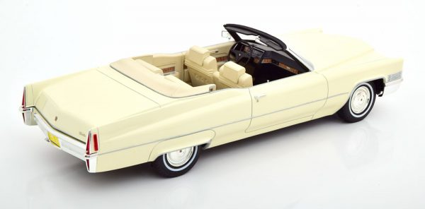 Cadillac DeVille Cabriolet 1970 Wit 1-18 Cult Scale Models
