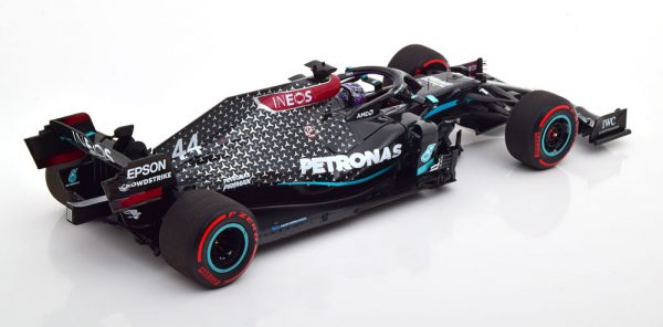 "Mercedes AMG Petronas F1 W11 EQ Performance Lewis Hamilton 91st GP Win Nürburgring (Eifel ) World Champion ""met helm van Michael Schumacher"" 1-18 Minichamps Limited 2200 Pieces"