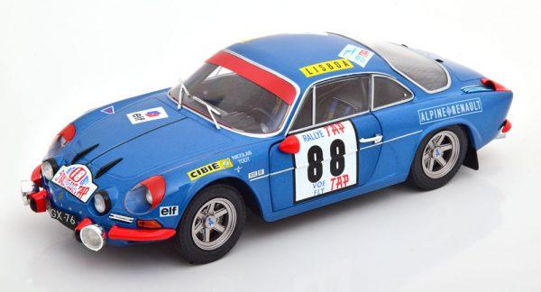 Renault Alpine A110 1600S No.88, Rally Portugal 1971 Nicolas/Todt Blauw 1-18 Solido