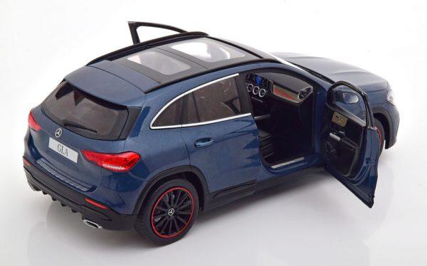 Mercedes-Benz GLA-Klasse ( H247) AMG 2020 Donkerblauw Metallic 1-18 Solido