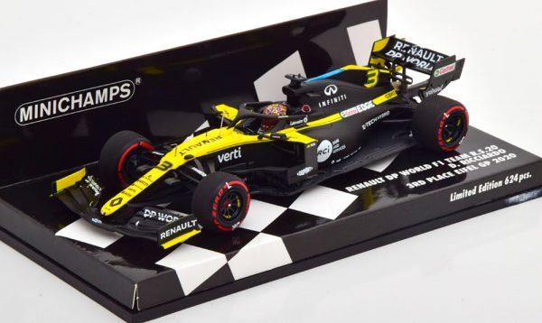 Renault R.S.20 3rd Place GP Eifel, Nürburgring 2020 D.Ricciardo 1-43 Minichamps Limited 624 Pieces