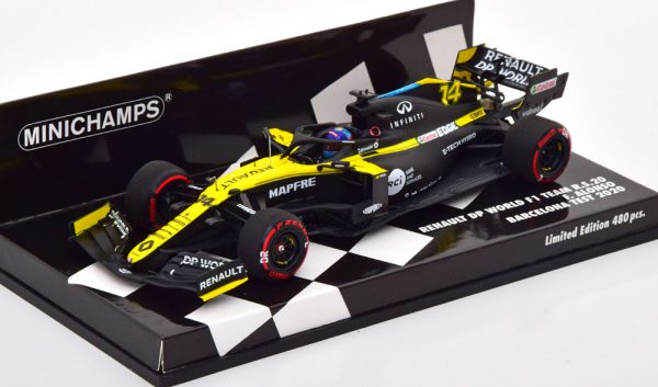 Renault R.S.20 Test Barcelona 2020 F.Alonso 1-43 Minichamps Limited 480 Pieces