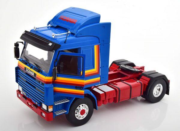 Scania 143 Topline 1987 Blauw 1-18 MCG Models ( Metaal )