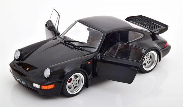 Porsche 911 (964) Turbo 1990 Zwart 1-18 Solido