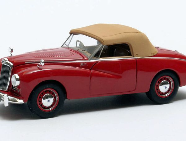 Sunbeam Alpine rood gesloten 1953 - 1955 Rood 1-43 Matrix Scale Models Limited 408 pcs.