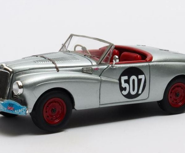 Sunbeam Alpine No.507 1953 Coupe des Alpes-4th in Cclass Drivers: Stirling Moss/ John Cutts 1-43 Zilver Matrix Scale Models Limited