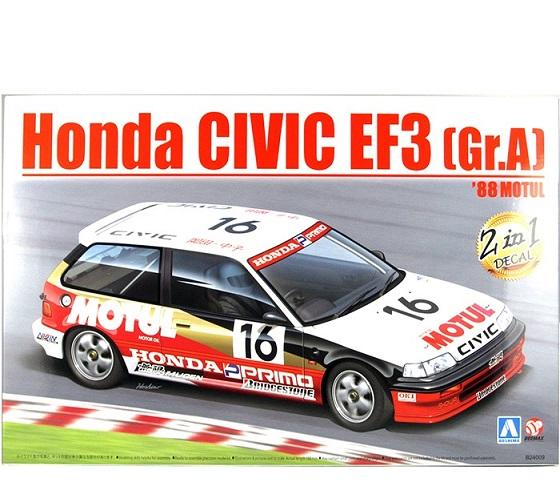 Honda Civic EF3 ( Gr.A ) '88 Motul #16 1/24 Scale Kit Aoshima