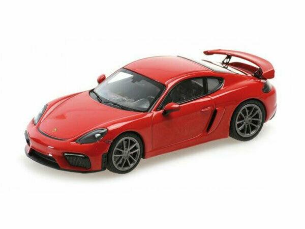 Porsche 718 Cayman GT4 2020 Rood 1-43 Minichamps Limited 336 Pieces