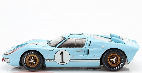 Ford GT40 MK II #1 2nd 24Hrs Le Mans 1966 Miles, Hulme 1:18 Shelby Collectibles