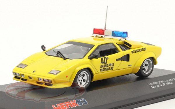 Lamborghini Countach Safety Car Monaco GP F1 1982 Geel 1:43 Werk83