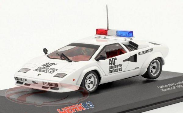Lamborghini Countach Safety Car Monaco GP F1 1982 Wit 1:43 Werk83