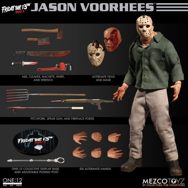 The One:12 Collective: Friday the13th Part 3 - Jason Voorhees (1-12 Scale) Mezco