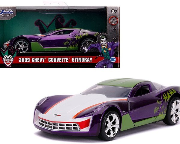 "Chevrolet Corvette Stingray 2009 ""The Joker DC Comics"" 1-32 Jada Toys"