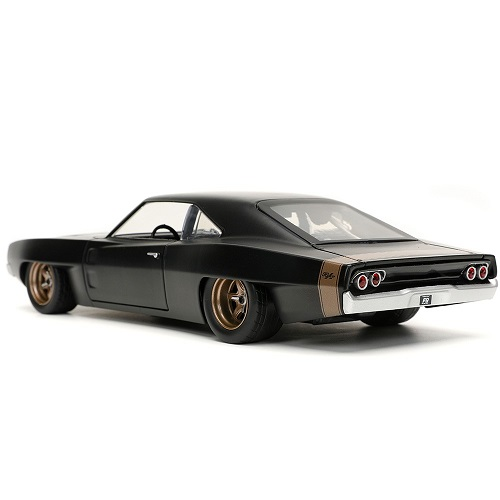 """Dodge Charger Widebody 1968 """"Fast & Furious 9"""" Dom's Zwart 1:24 Jada Toys"""