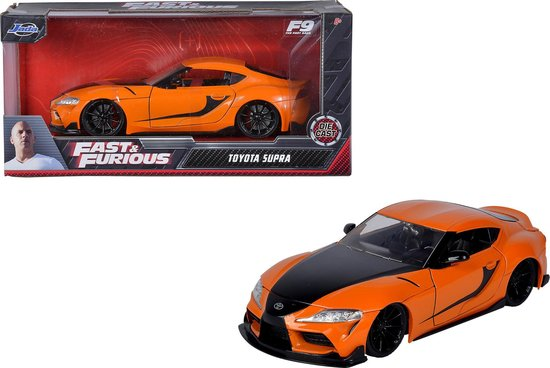 "Toyota GR Supra ""Fast & Furious 9 (2021)"" Han's Oranje / Zwart 1:24 Jada Toys"