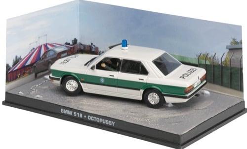 "BMW 518 Polizei James Bond 007 ""Octopussy"" 1-43 Altaya James Bond Collection"