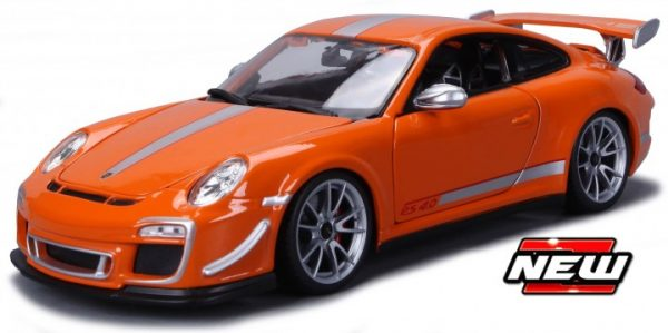 Porsche 911 GT3 RS 4.0 2012 Oranje / Zilver 1-18 Burago Limited Edition