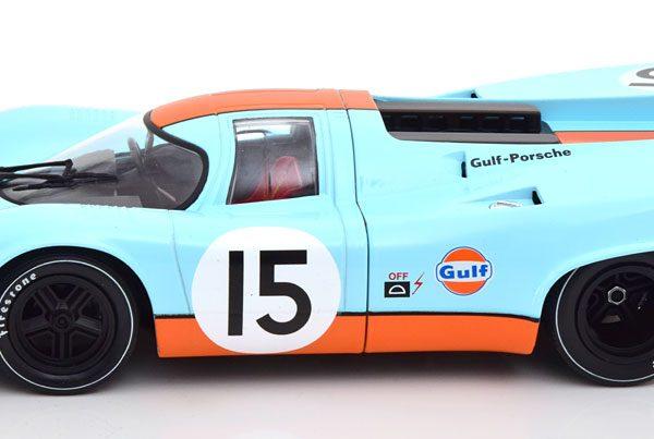 """Porsche 917K No.15, 1000KM Zeltweg 1971 """"Gulf"""" Bell/Siffert 1-18 CMR Models"""