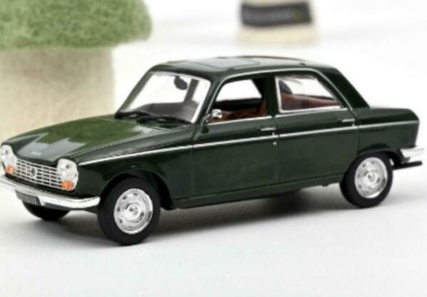 Peugeot 204 1966 Antique green 1-43 Norev