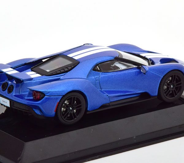 Ford GT 2017 Blauw Metallic / Wit 1-43 Altaya Supercars Collection