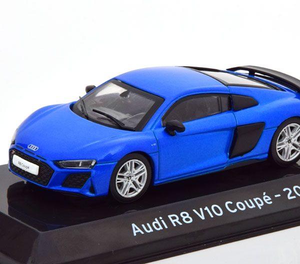 Audi R8 V10 Coupe 2019 Blauw Metallic 1-43 Altaya Supercars Collection