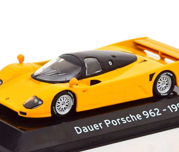 Porsche 962 Dauer Street 1993 Geel / Zwart 1-43 Altaya Supercars Collection