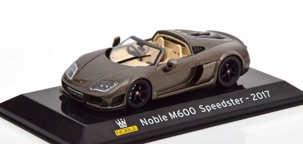 Noble M600 Speedster 2017 Grijs Metallic 1-43 Altaya Supercars Collection